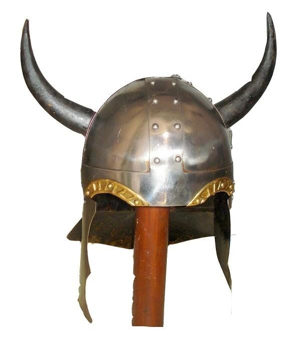 Horn Viking Helmet Medieval Warrior Costume Reenactment