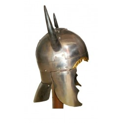 Horn Viking Helmet Medieval Warrior - COSTUME