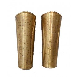300 Movie Spartan Greaves - Brass Hand Guard set