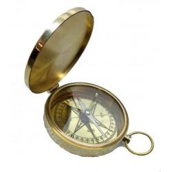 Brass Directional Flat Compass-Pocket Size