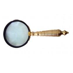Golden Plate Magnifying Glass - BRASS MAGNIFIER