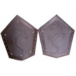 Dragon Scale Arm Bracers - Leather Armour