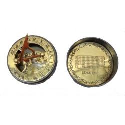 Antique Brass Sundial Pocket Compass