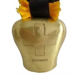 """Swiss Cow Bell Brass Finish Home Decor 7"""""""