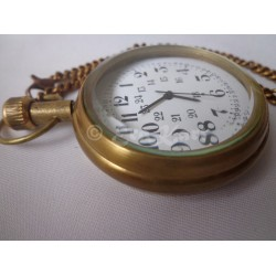 Antique Brass Pocket Watch