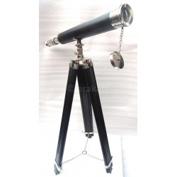 Chrome Harbour Telescope w Tripod Stand