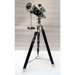 Brass Telescope double barrel chrome