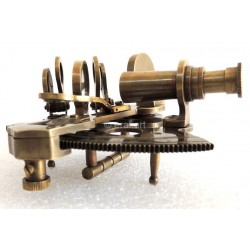 "Antique Brass Sextant 3.5"""