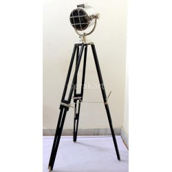 Chrome Light Shade Focus Spotlight Floor Lamp