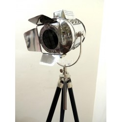 Wood Tripod Spot Light with Protective Metal