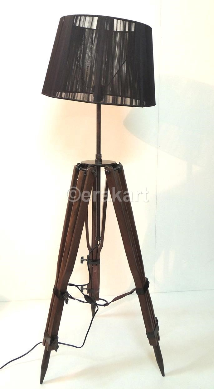 Buy retro floor light tripod lamp shade black gothic on for Cheap tripod lamp