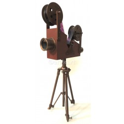 Vintage Brass Film Projector Accent Camera