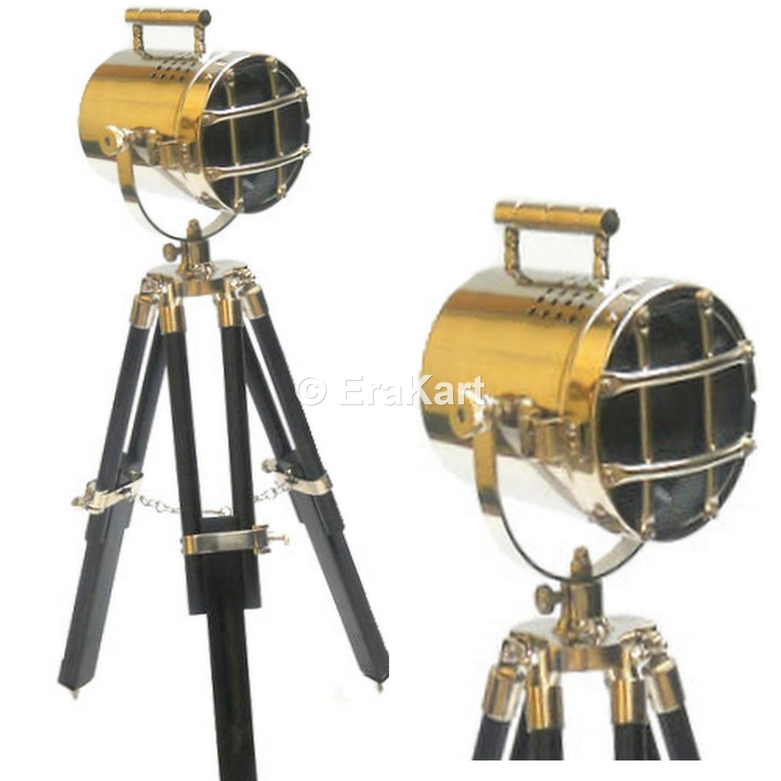 Buy Antique Nautical Hollywood Tripod Stand Spot Light Online Sale