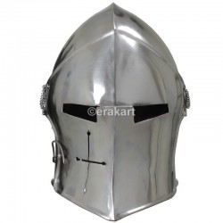 Visored Barbute Steel Helmet Metal Armour Ideal For Events