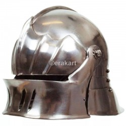 Gothic Style Sallet Helmet Ideal For Events LARP & Re-enactment. Metal Armour