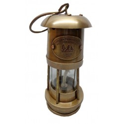 Antique Brass Miner Lamp