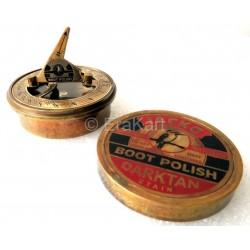 Jacko Boot Polish Brass Sundial Compass