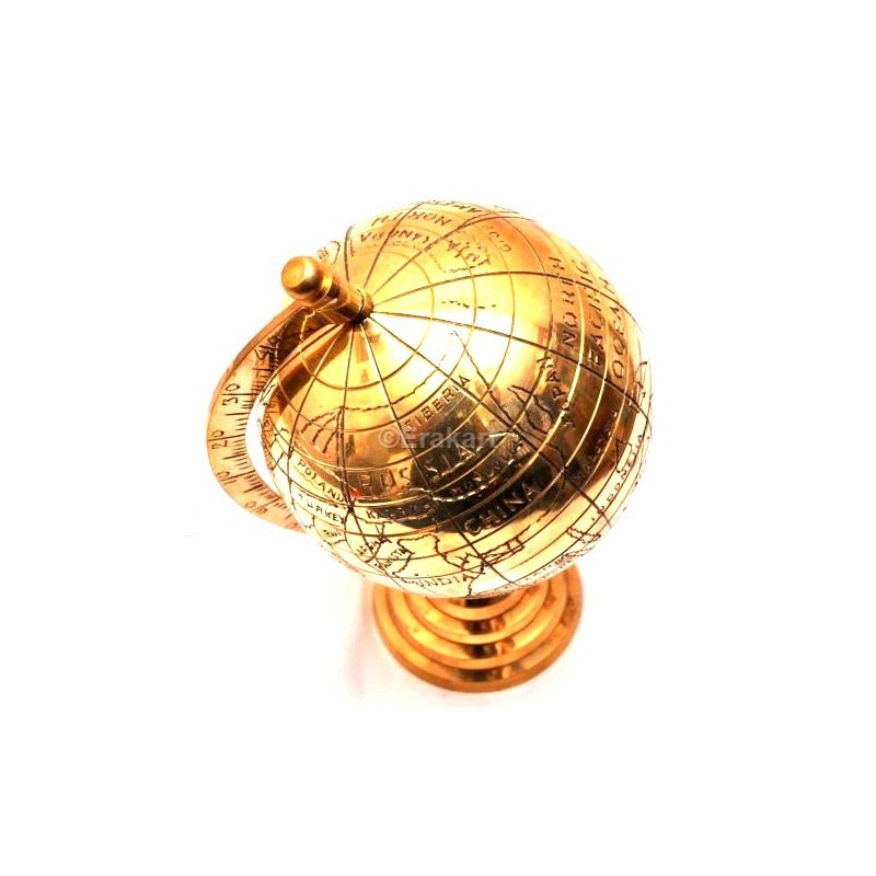 Buy vintage brass antique world map globe online sale at erakart store vintage brass antique style world map globe gumiabroncs Images