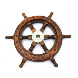 Antique Nautical Ship Wheel Clock