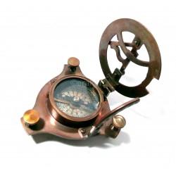 """Antique Brass Sundial Compass 4"""""""