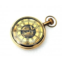 Vintage Brass Pocket Watch