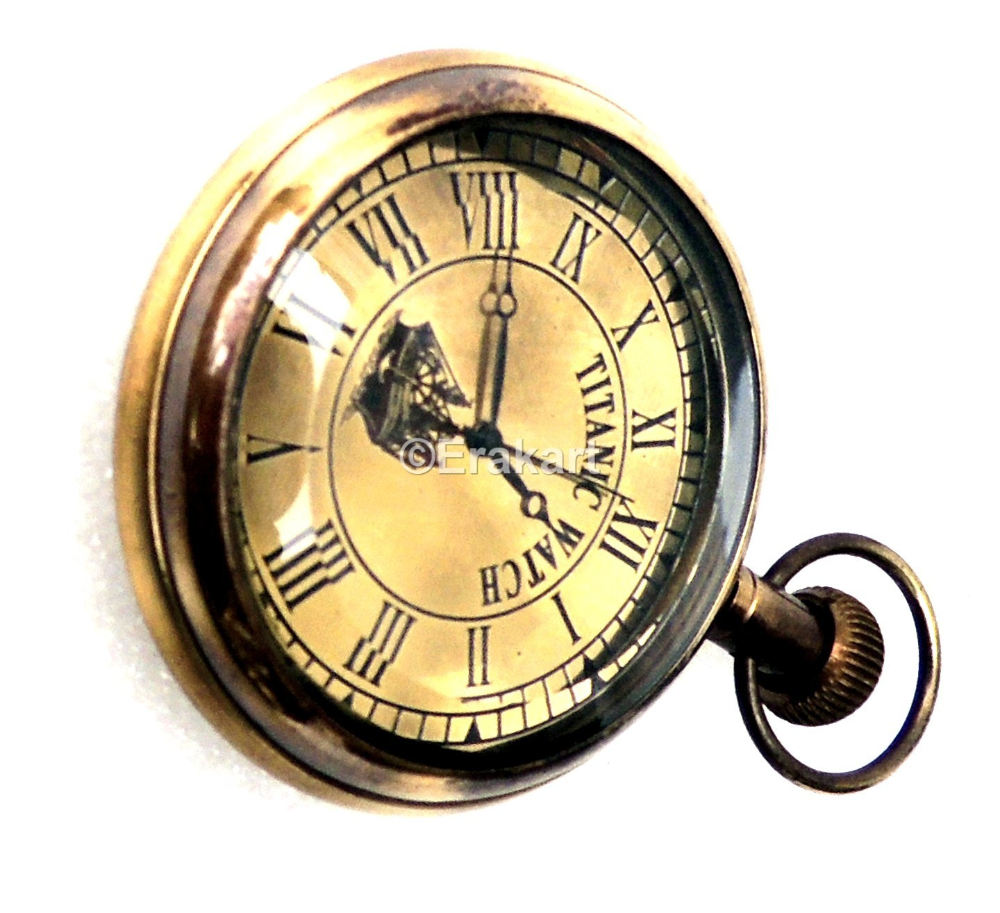 Antique pocket watch in brass buy titanic pocket watches online amipublicfo Images