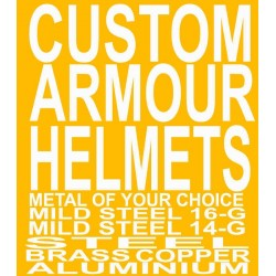 Custom Armour helmet Metal