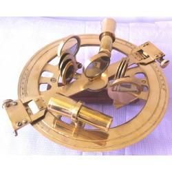 Round brass sextant
