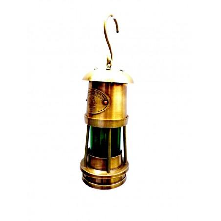 Brass Miner Lamp T Light Lantern white