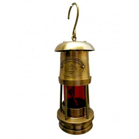 Antique Brass Miner lantern