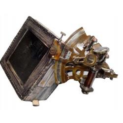 Antique Brass Vintage Sextant - Navigation Tool