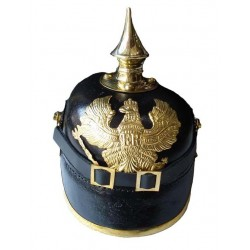 German Pickelhaube Prussia FR Leather Helmet