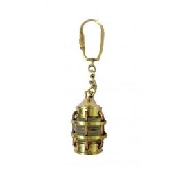 Nautical Brass Lamp Key Chain