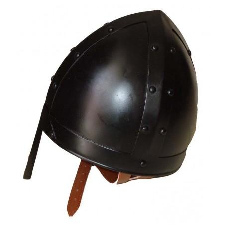 Antique Black Norman Nasal Armour Helmet