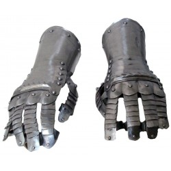 Steel Knight Gauntlets Warrior Gloves