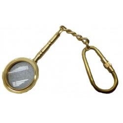Nautical Brass Spyglass Magnifier Pocket Key Chain