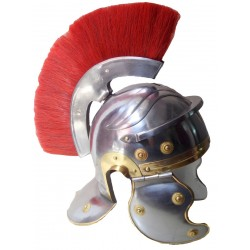 Roman Centurian Helmet With Red Plume