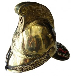 Full Brass Fire Brigade Fighter Fireman Helmet