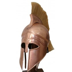 Greek Corinthian Armour Helmet W White Plume