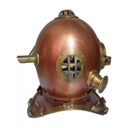Vintage Brass Copper Navy Diving Helmet