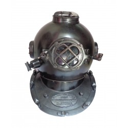 Vintage Iron Antique Black Navy Diving Helmet