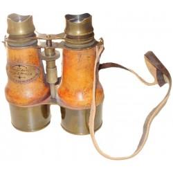 Antique Brass Nautical Binocular With Leather Strap