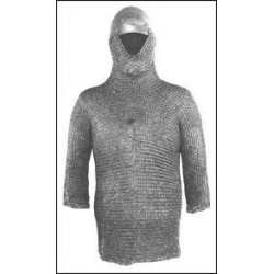 Large Butted Chain mail Hat Hood Shirt Medieval Armour