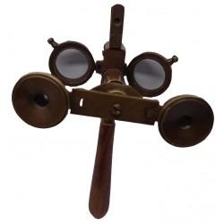 "Cooke & Son London"" 3 In 1 Brass Binocular"