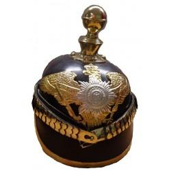 German Pickelhaube Eagle Badge Leather Garde Helmet