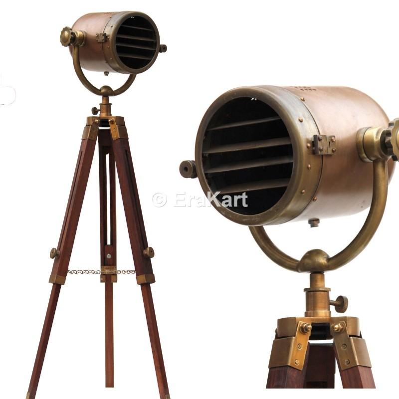 Antique Searchlight Studio Spotlight Floor Lamp