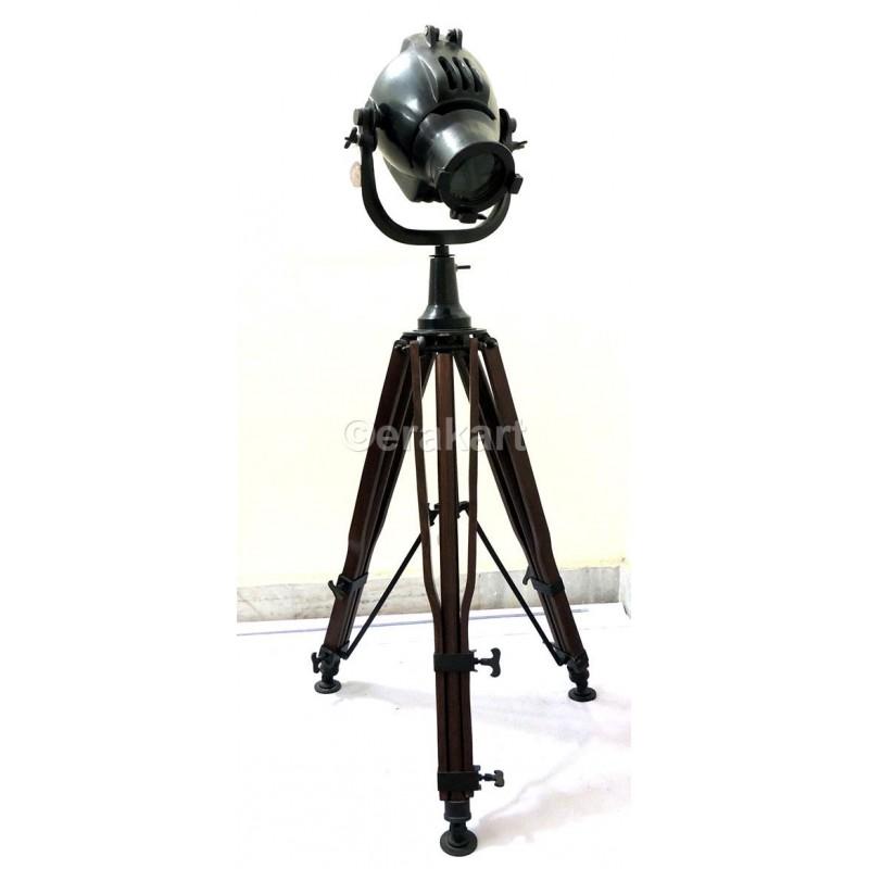 Antique Steel Tripod Spotlight Floor Lamp, Tripod Spotlight Floor Lamp The Range