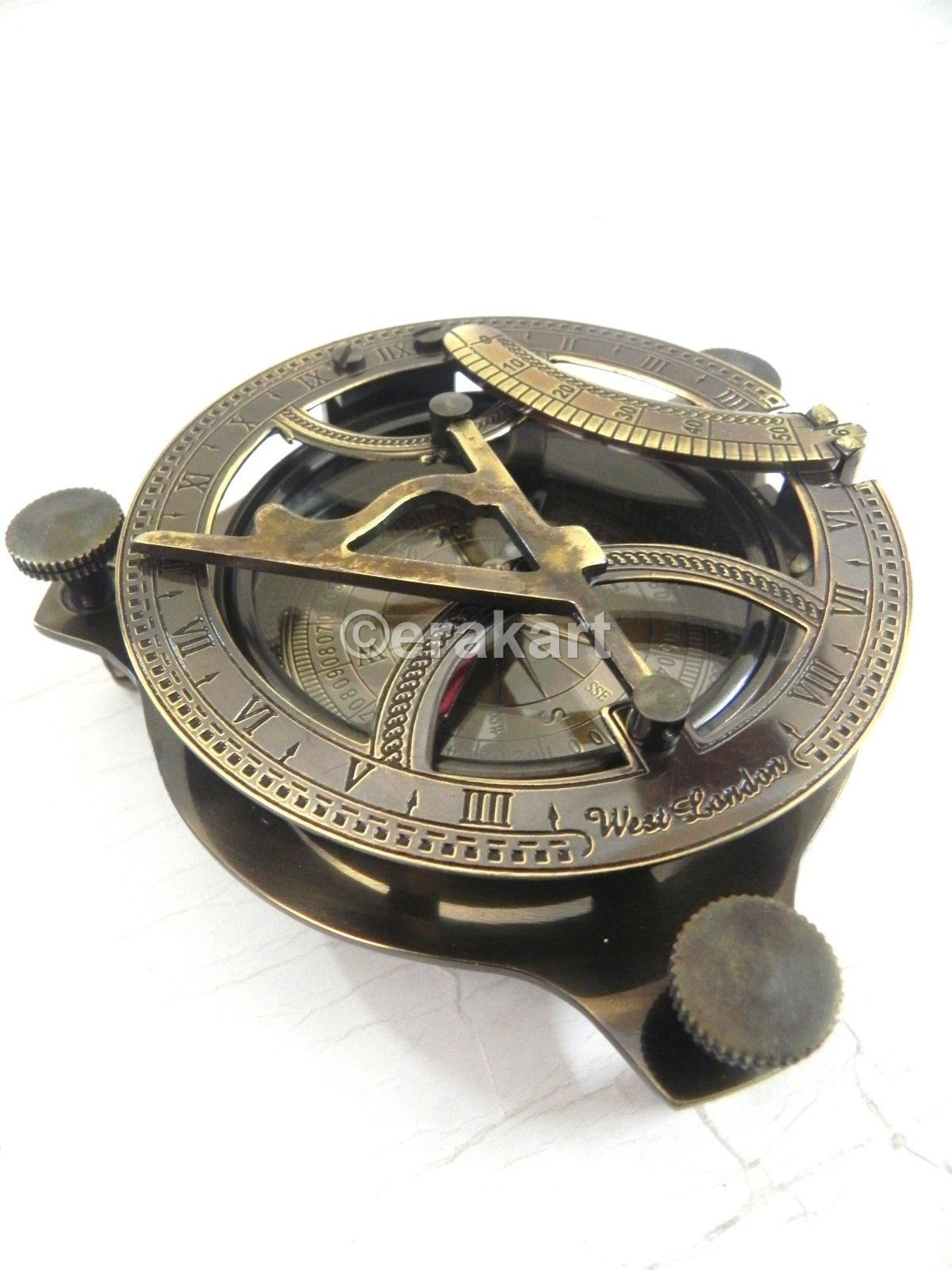 Buy Antique Brass Sundial Ship Compass Nautical Online At