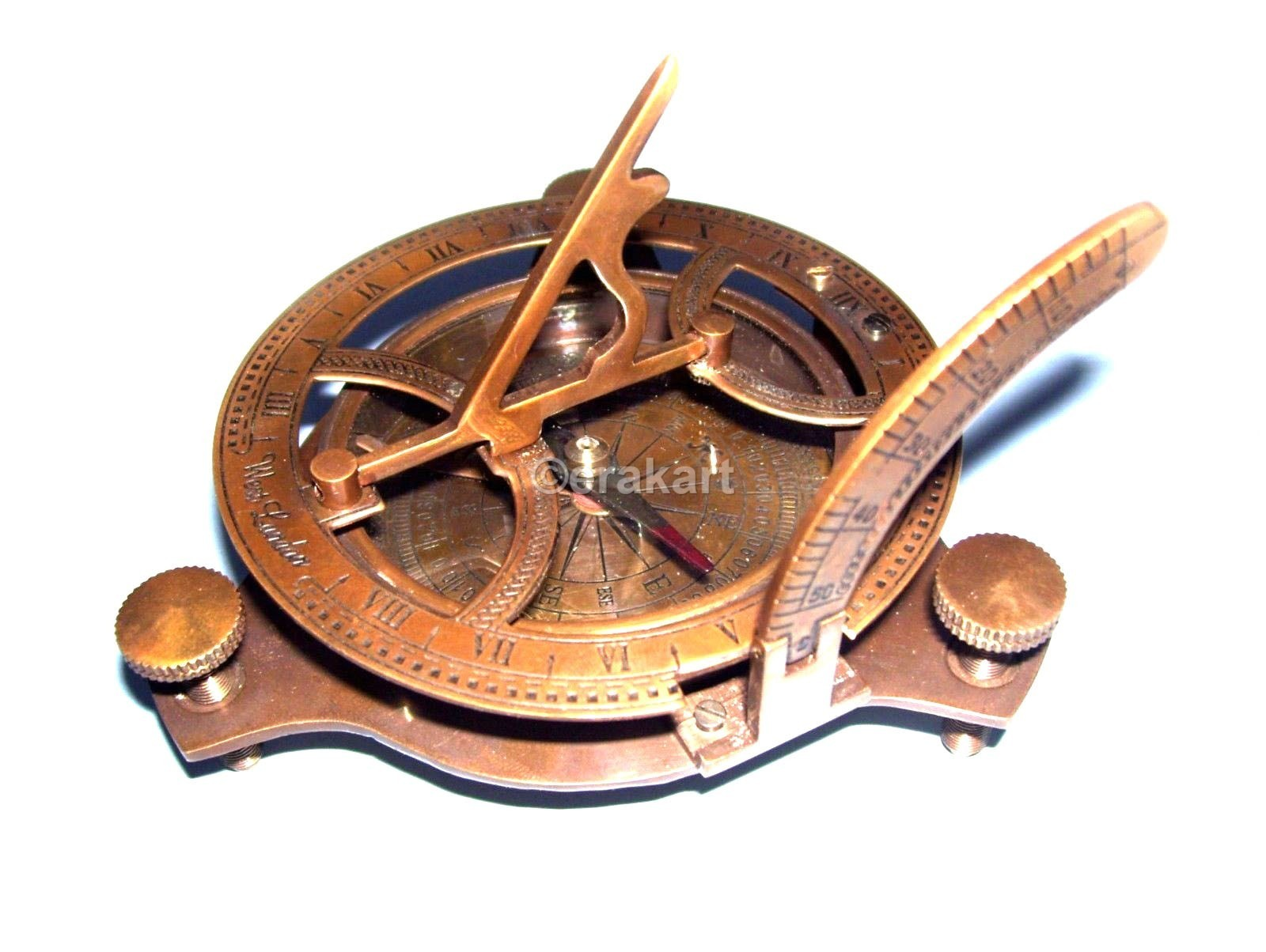 Antique Brass Sundial Compass Buy Nautical Compasses
