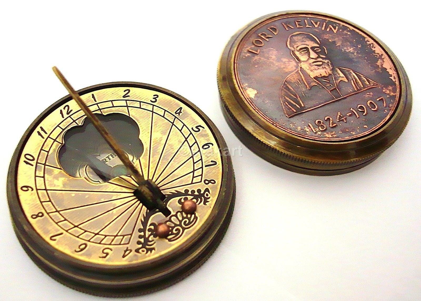 Buy Lord Kelvin Brass Sundial Compass Navigate Online At